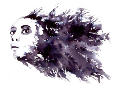 Ink Illustration - Person