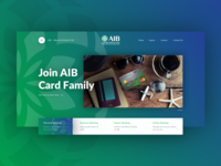 AIB Card Family website re-design.