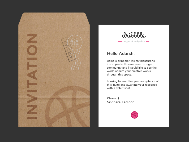 Thanks for the invite sridhara kadloor by adz005 dribbble dribbbleg stopboris Image collections