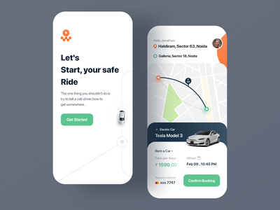 Taxi Booking App - Concept mobiledesign thurdaypost cleanui graphic design ios android mobile uidesign appui taxibookingapp ui