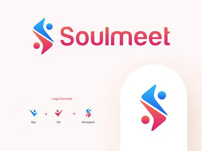 Soulmeet Logo Design sletter slogo datinglogo datingapp branding logoconcept logo logodesign