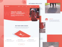 Fitly Landing Page - Track your daily workout