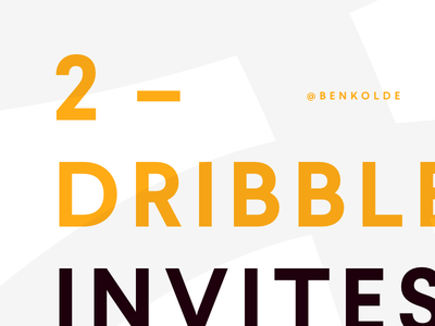 Dribbble Invite Giveaway! brand freelance new designer draft dribbble invites dribbble typography giveaway invites