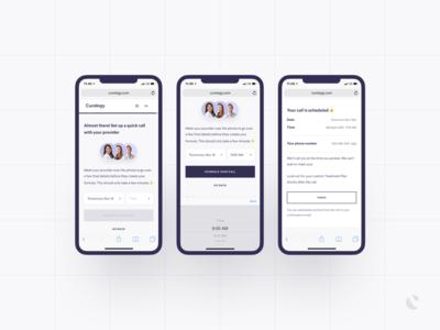 Phone Consults - Patient Scheduler ux ui product design telemedicine scheduler bookings medical dashboard doctor calendar curology booking
