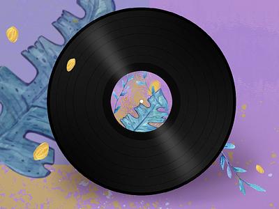 Album Cover albumcover album art watercolor polygon adobe design adobe illustrator branding art vector illustration