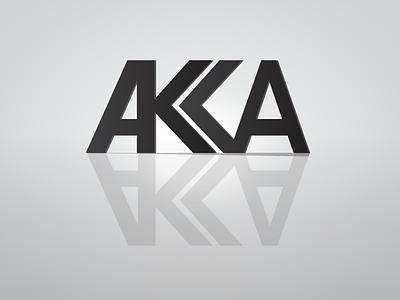AKKA white black vector design logo