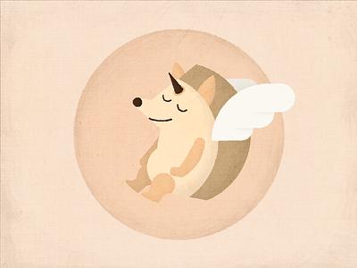 Hedgehog hedgehog cute animal wings overlay textured angel illustration character characterdesign photoshop illustrator
