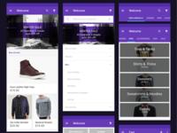 E-shop UI (Material Design)