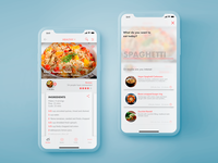 Recipes app - screens