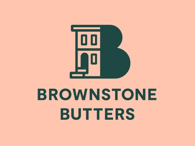 Brownstone Butters branding and identity lotion butter building brownstone logo branding
