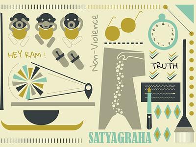 Illustration based on Mahatma Gandhi