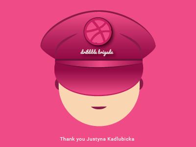 Dribbble Brigade kadlubicka justyna you thank