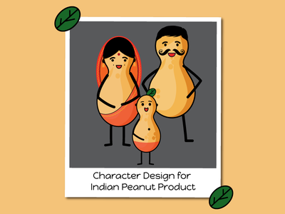 Character Design indian style character design peanut family