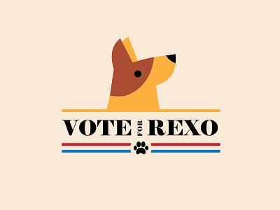 Vote for Rexo campaign dog