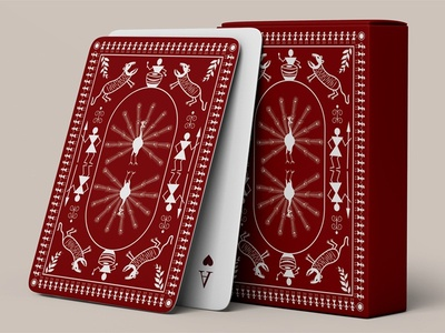 Warli Painting Based Play Card