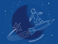 Astronaut T-shirt Design screen print space fundraiser rocket astronaut t-shirt design line
