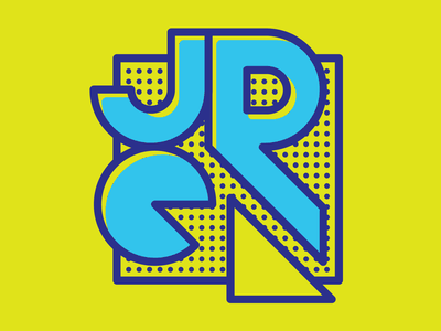 Photographer Monogram youthful logo yellow retro pop art monogram