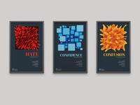 Posters Series poster series lecture ad campaign vector art poster color