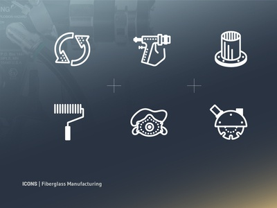Manufacturing Line Icons
