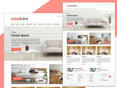 E-commerce: Furniture shop web design store web shopping e-shop furniture shop e-commerce