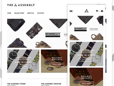 Men Fashion e-store store web responsive fashion shop e-commerce
