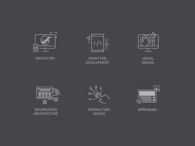 Design Skill Icons interaction front end prototype information architecture line skill designer icon