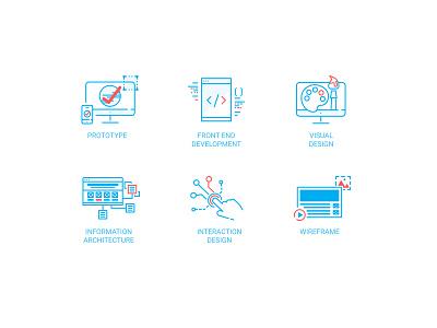 Duotone Design Skill Icons ui design ux visual design duotone skill prototype line interaction information architecture icon front end designer