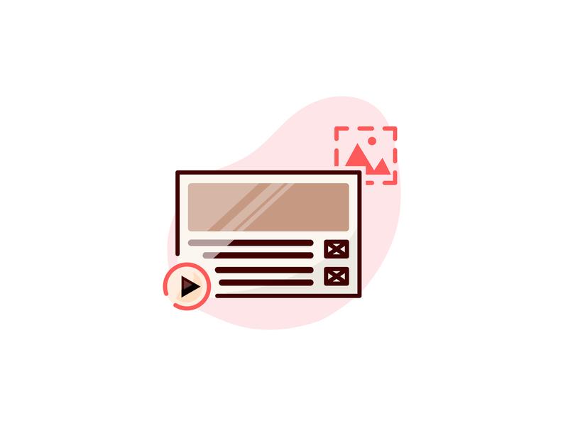 Design Skill Icons: Wireframe resume cv flat line solid wireframe icon skill design designer