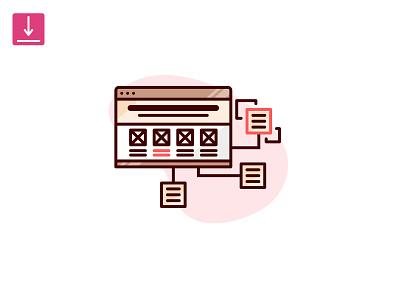 Design Skill Icons: Information Architecture resume cv flat solid line ia information architecture icon designer skill design