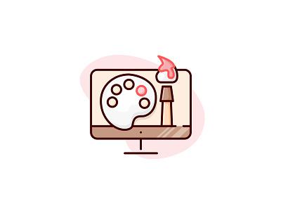 Design Skill Icons: Visual Design resume cv line solid flat icon skill designer design