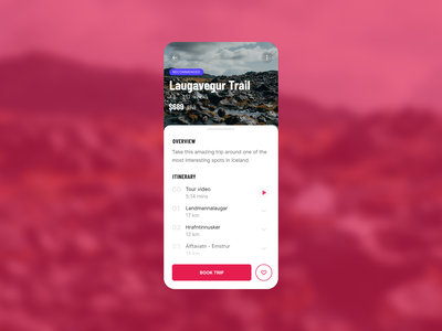 Multi Day Tour Detail Page mobile app mobile ui barlow condensed product page mobile travel ui