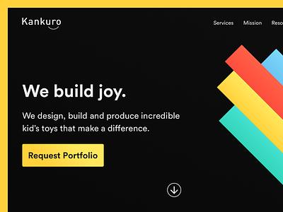Kankuro | Landing Page colorful landing page landing ui design ui website