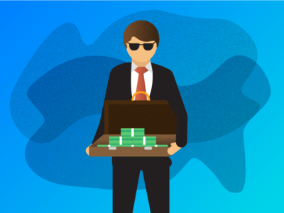 Show me the money character briefcase business woman business man money illustration