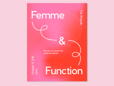 Femme & Function gradients female poster