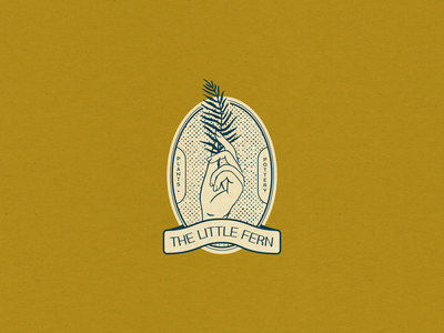 The Little Fern — Brand Concept fern botanical branding and identity handmade hand drawn plants pottery hand lettering vintage branding concept branding design brand brand identity branding illustration graphic design design typography