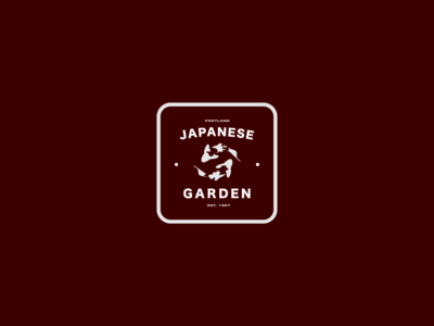 Portland Japanese Garden Badge