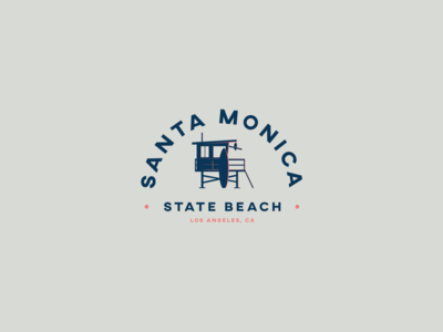 Santa Monica State Beach Badge
