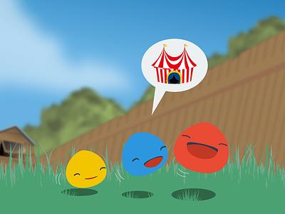 Through the grass acrosplat design app logo android ios game