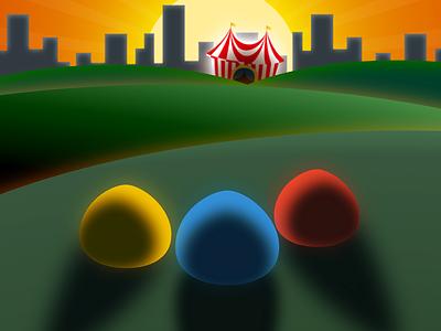The circus! acrosplat design app logo android ios game