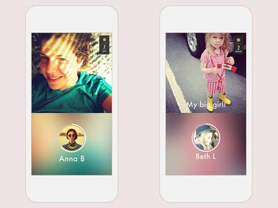 MIRAGE app mobile interface design messaging camera interactive ux ui app