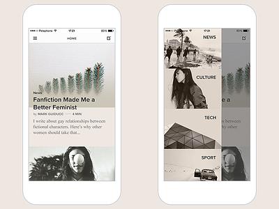 Pheed - Crowdsourced News Journalism ux ui feed website app interactive design