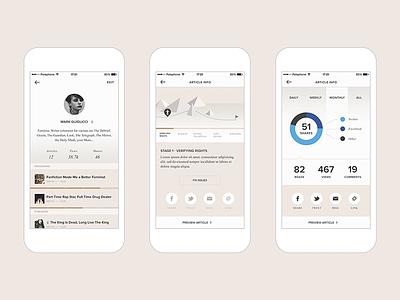 Pheed - Crowdsourced News Journalism design interactive ux ui app