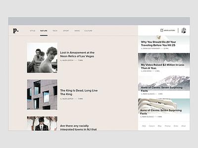 Pheed - Crowdsourced News Journalism feed design interactive ux ui app website
