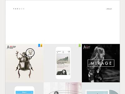 Portfolio layout designer ux responsive ui portfolio website flat web minimal clean