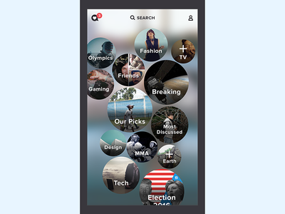 GONG - IPhone App ui ux application interactive graphic design interface bubbles iphone