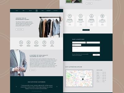 Tailoring Business Website modern website business web design web