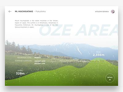 Hiking Guide App Concept mountain hiking ui ux