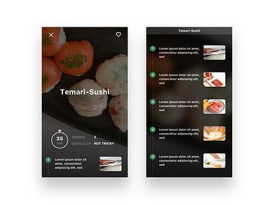 Recipe App Concept cooking recipe ui ux