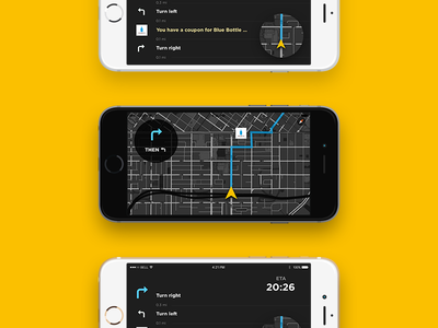Simple Navigation App Concept walking vehicle auto car navi map navigation ui ux