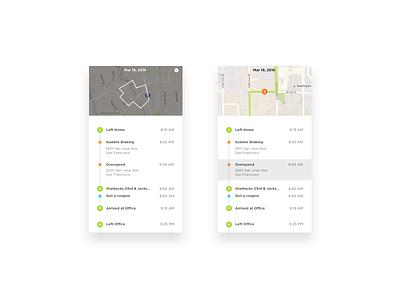 Drive Log App can ux ui fuel obd car auto vehicle analytics